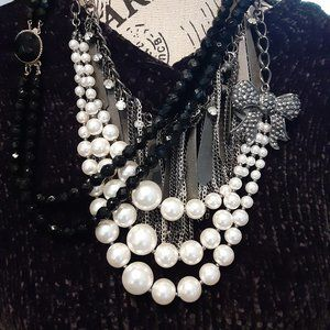 Costume Statement, Vintage, Beautiful, Black White